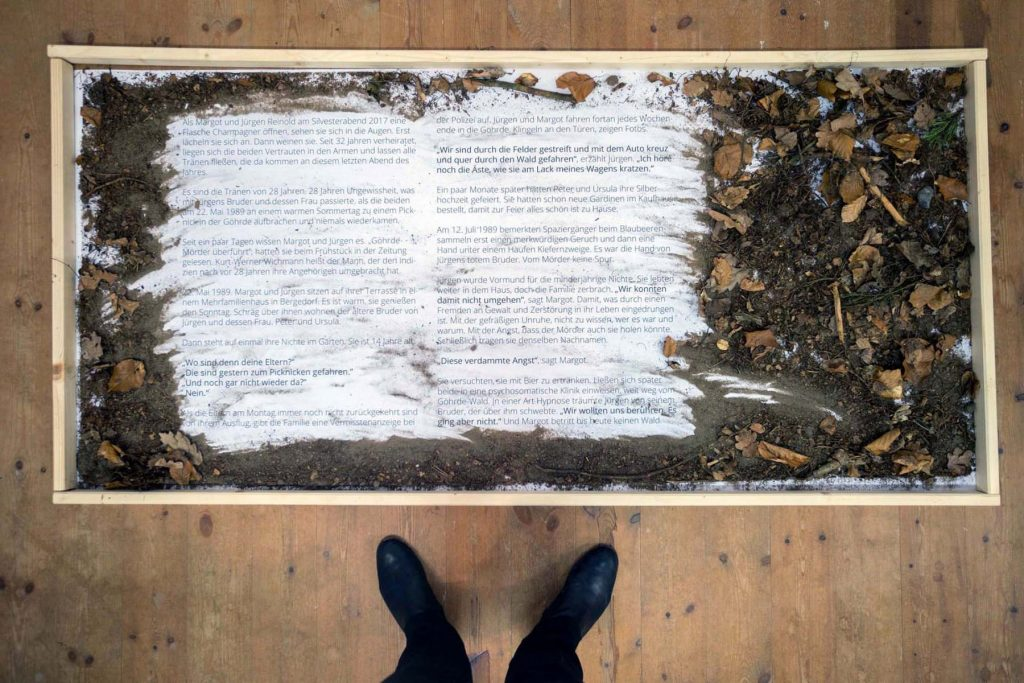 Einzelausstellung Carolin George: Schriftbilder, 2019