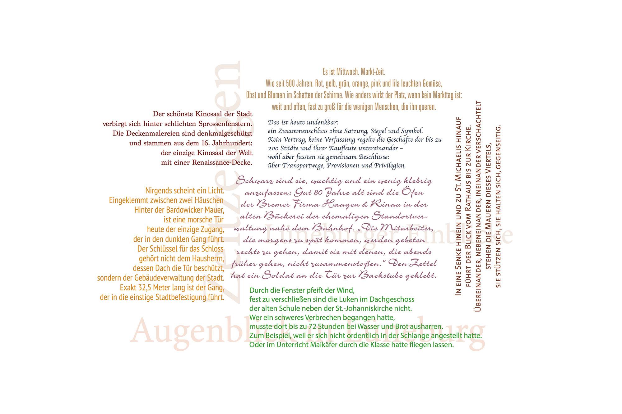 Wortwolke aus Zitaten unserer Lüneburger Bildbände