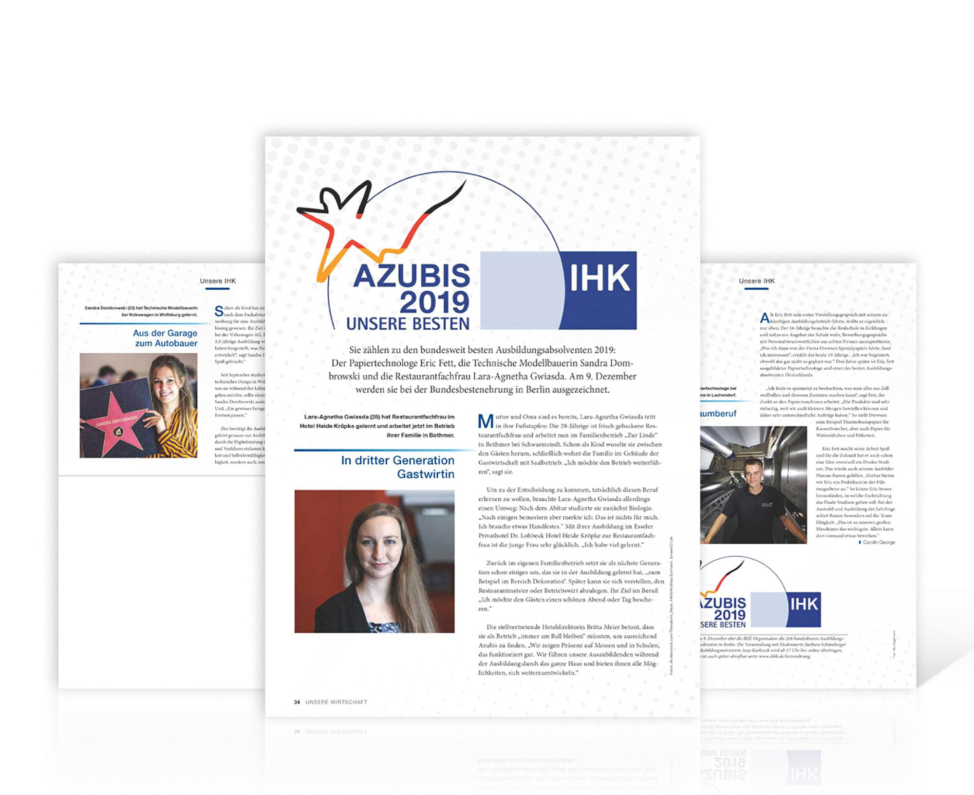 PR Kreativ Kontor - Bericht im IHK-Magazin Unsere Wirtschaft, Dezember 2019