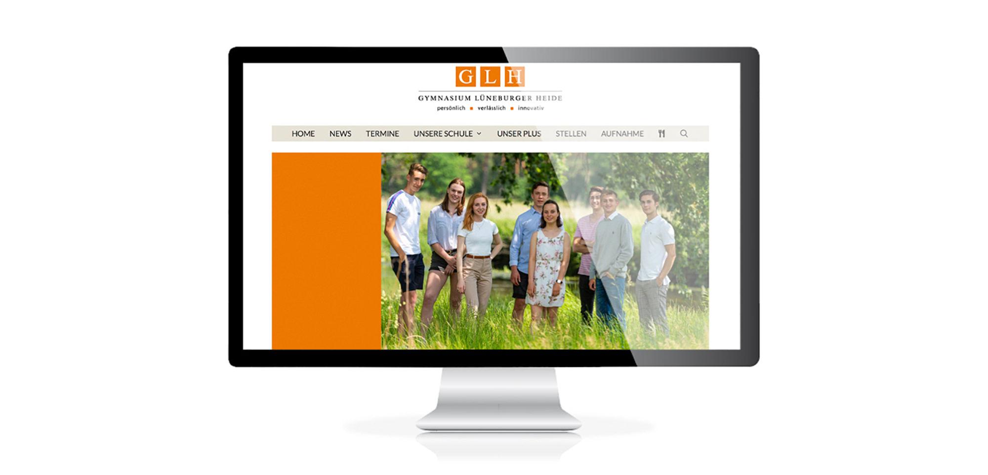 Neuestes Webdesign Projekt vom Lüneburger Kreativ Kontor für eine Schule