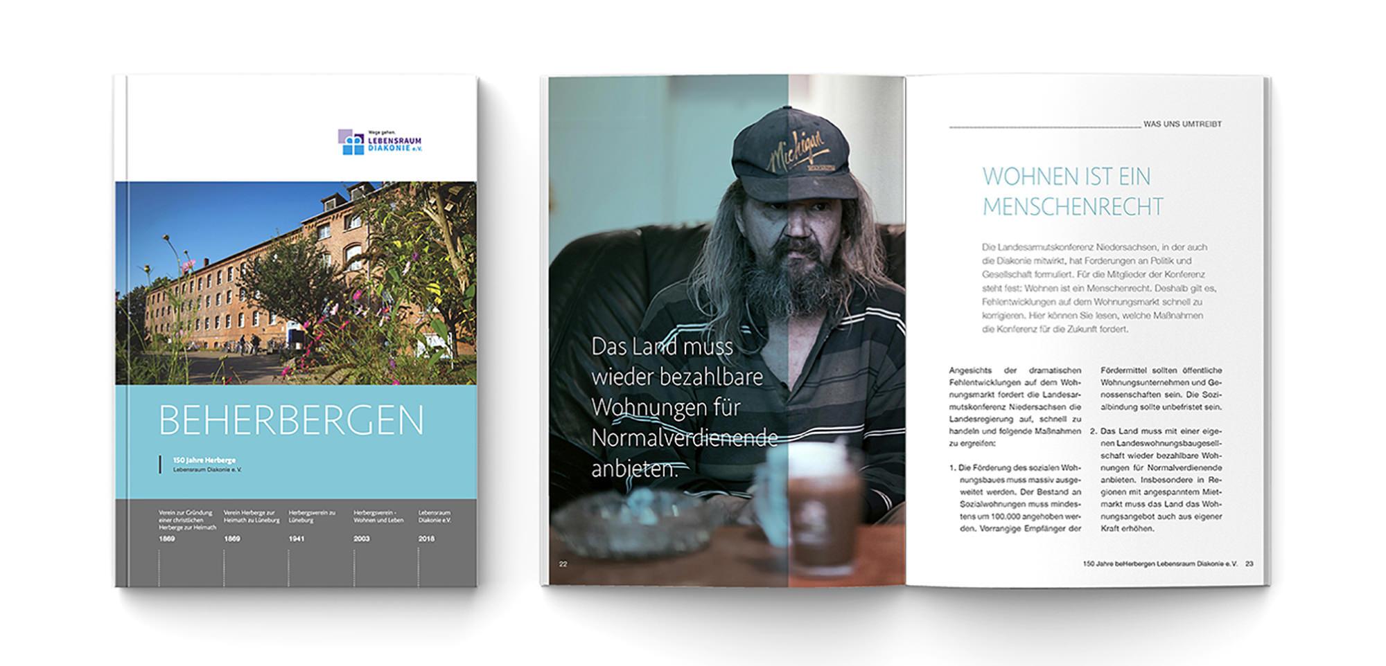 Neuestes Projekt vom Lüneburger Kreativ Kontor Broschüre Beherbergen