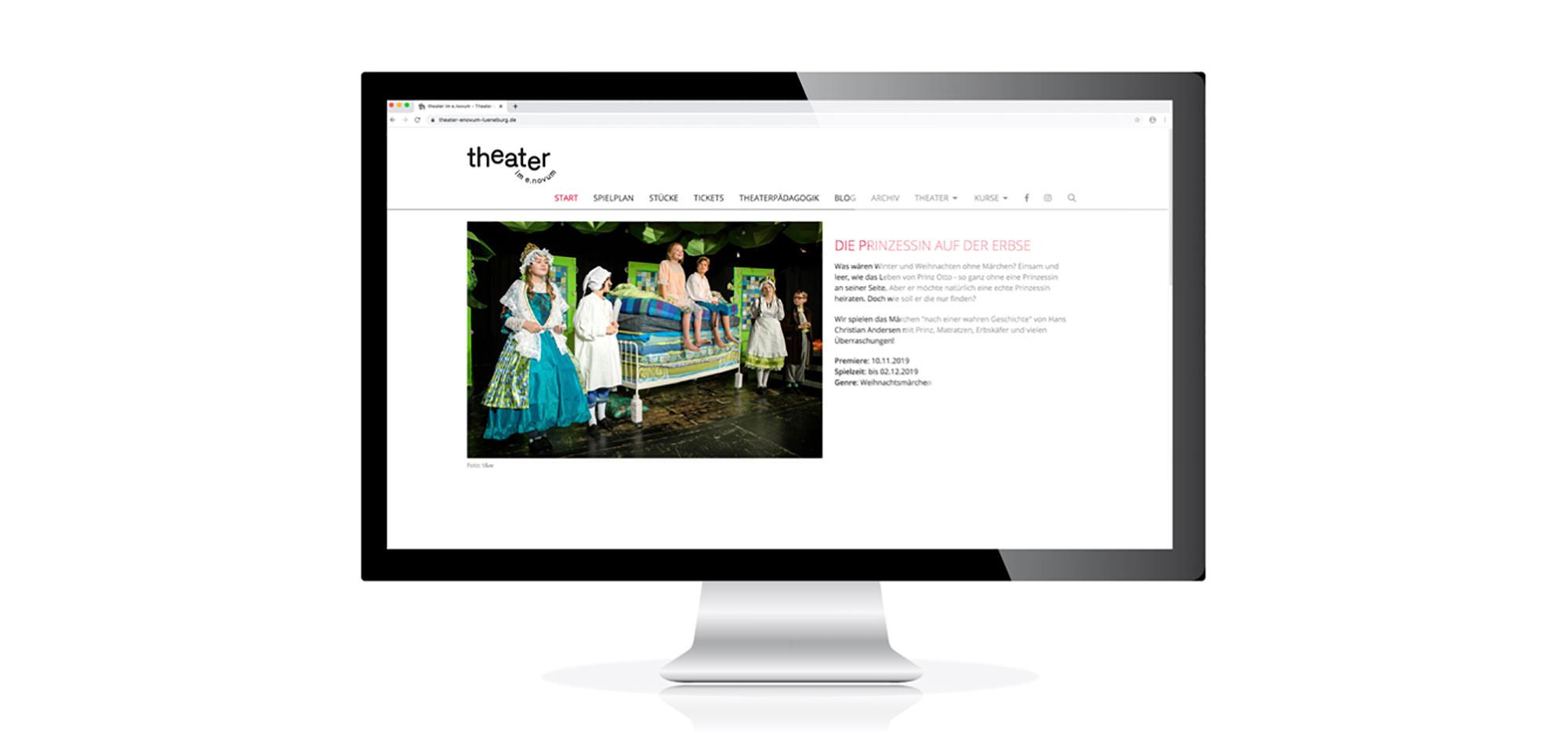 Neuestes Webdesign Projekt vom Lüneburger Kreativ Kontor für ein Theater