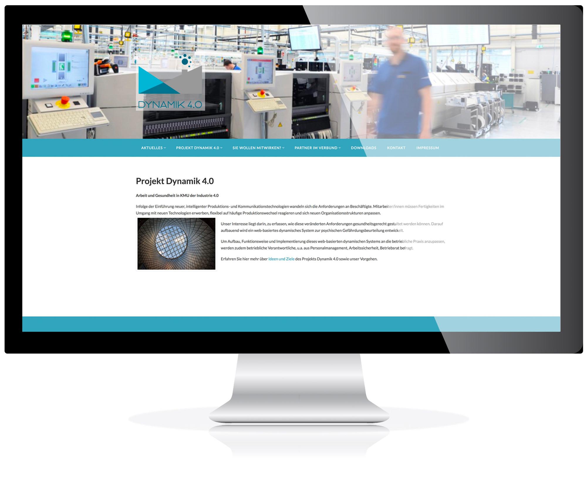 Website für Dynamik 4.0