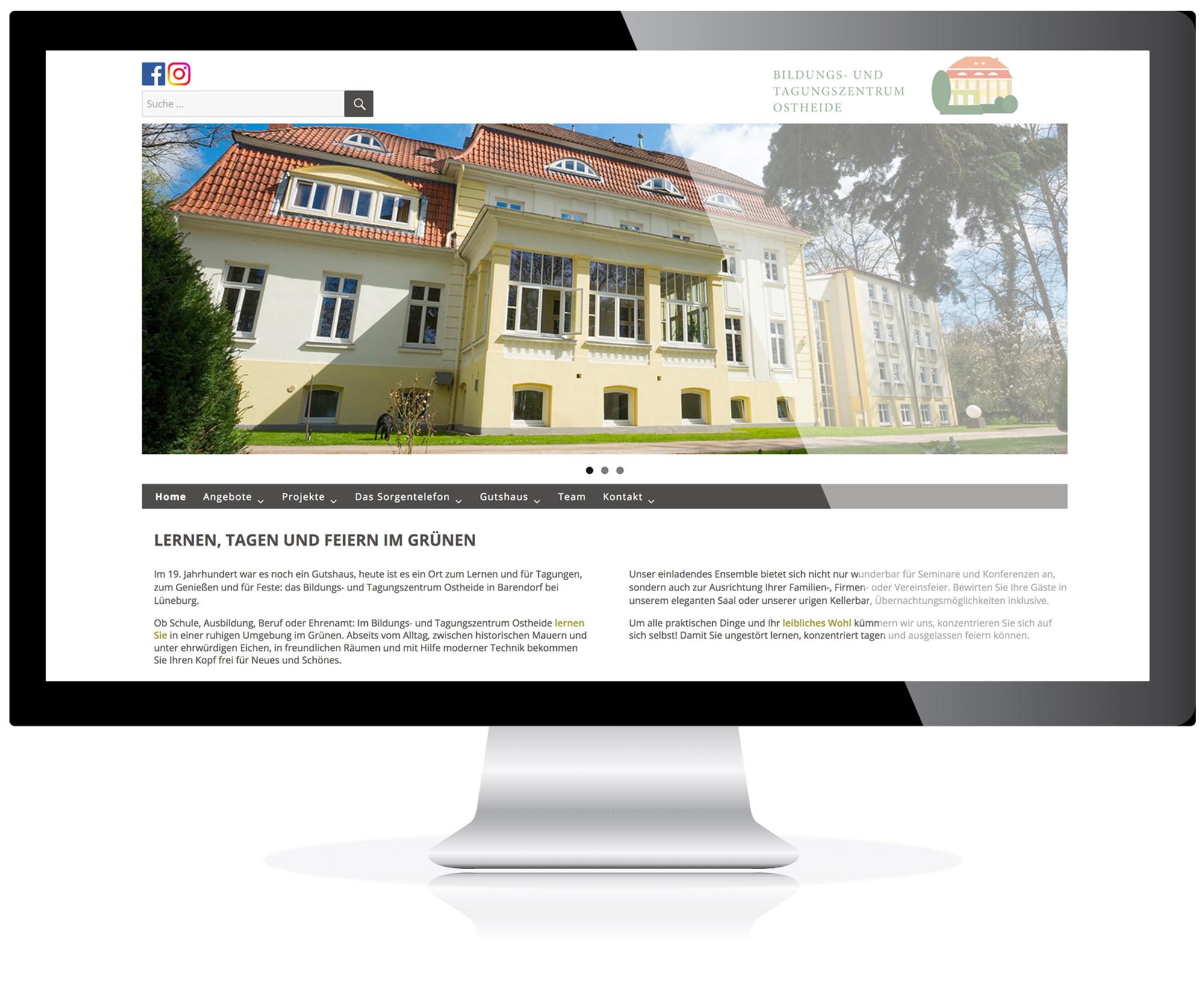 Website für das Bildungs- und Tagungszentrum in Barendorf