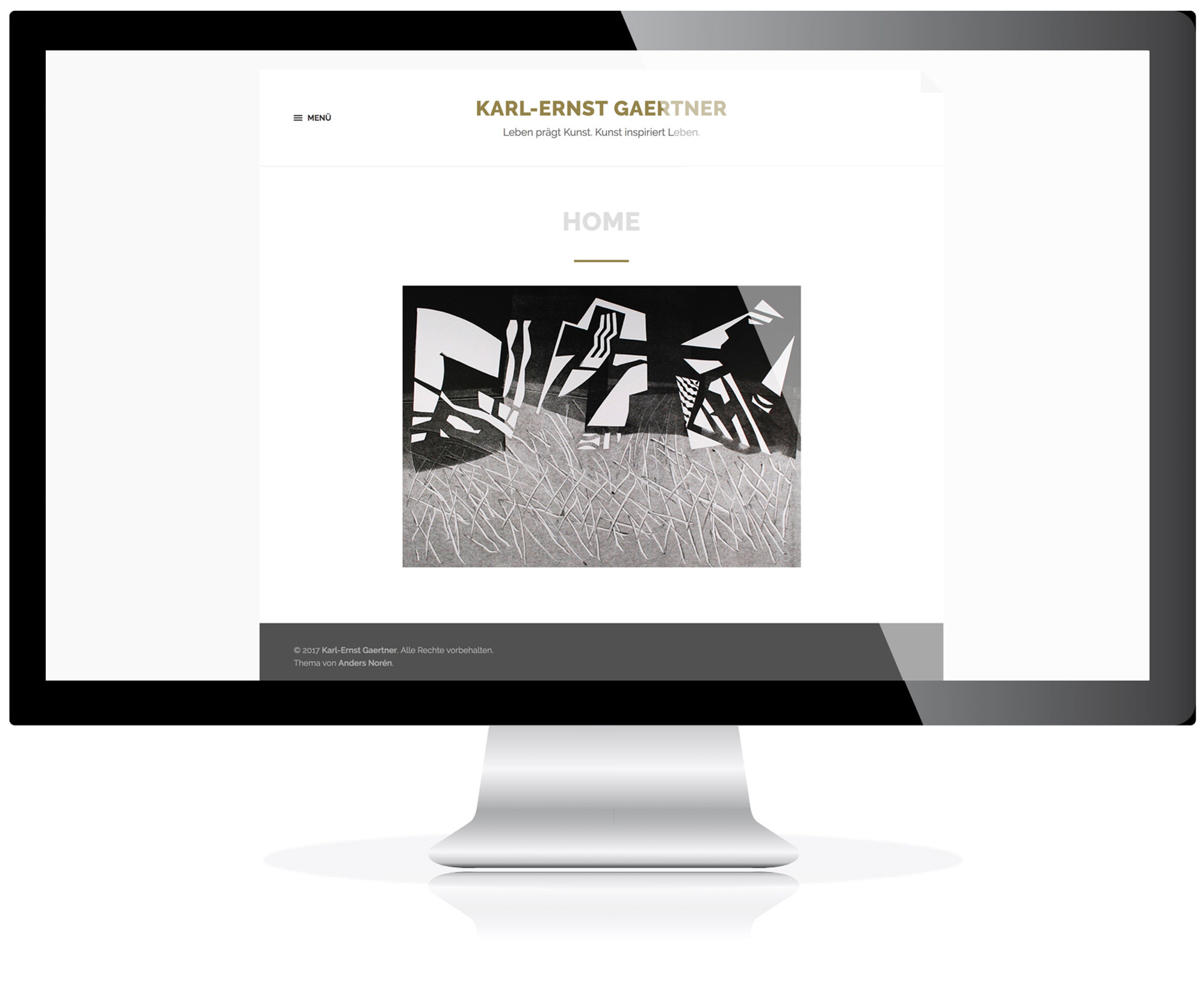 Website für den Künstler Karl-Ernst Gaertner