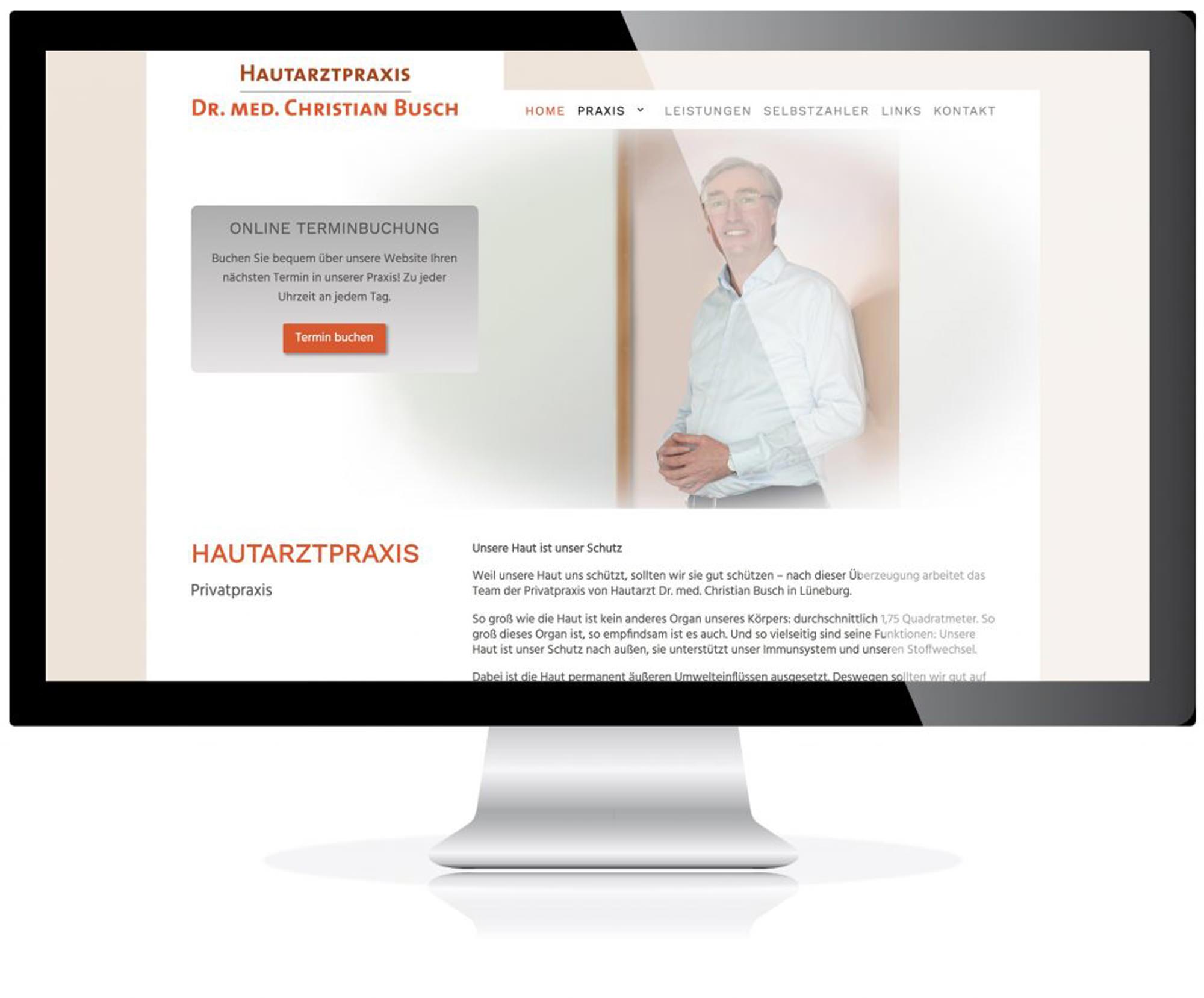Website für die Hautarztpraxis Dr. Busch, Lüneburg