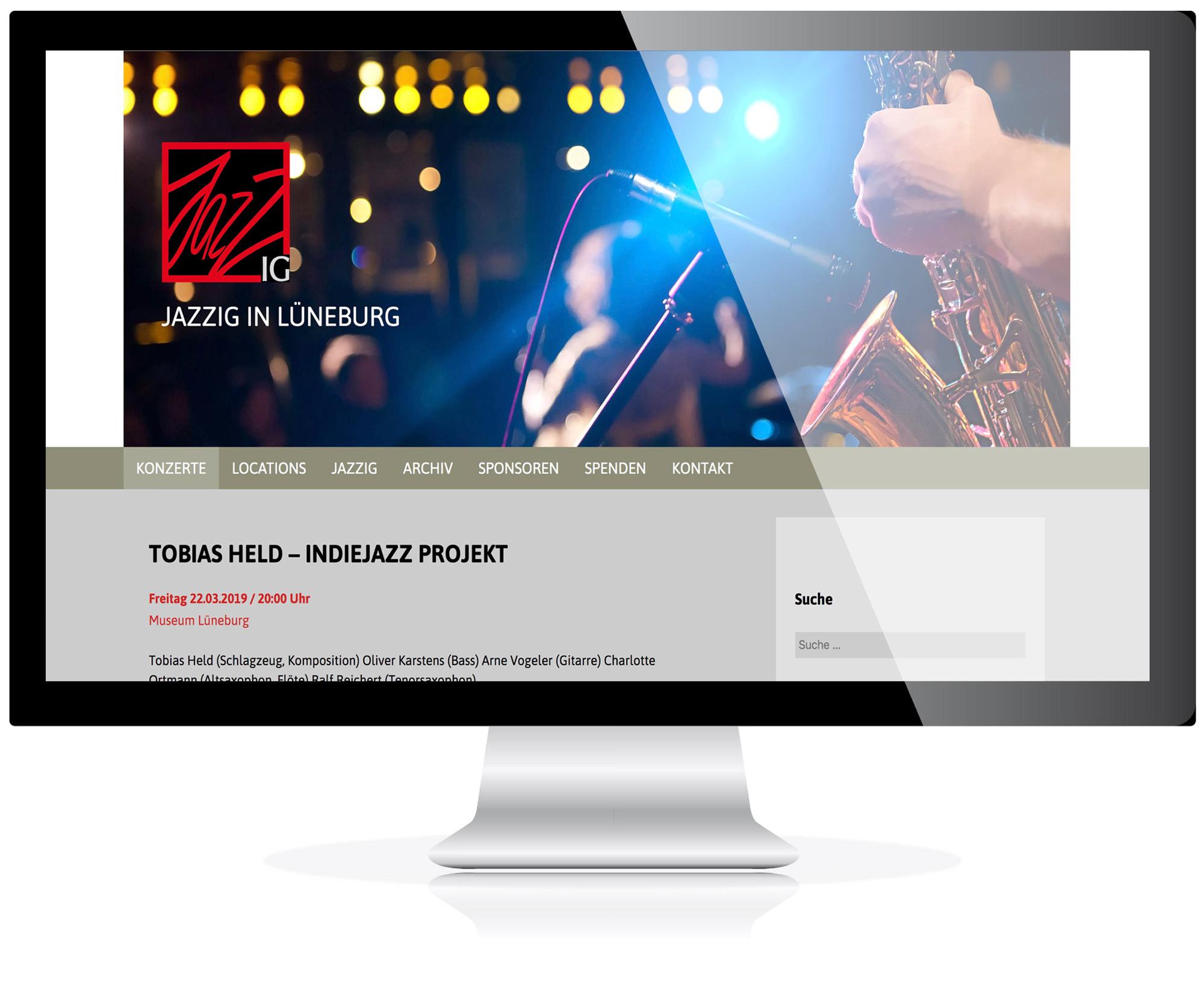 Website für die JazzIG, Lüneburg