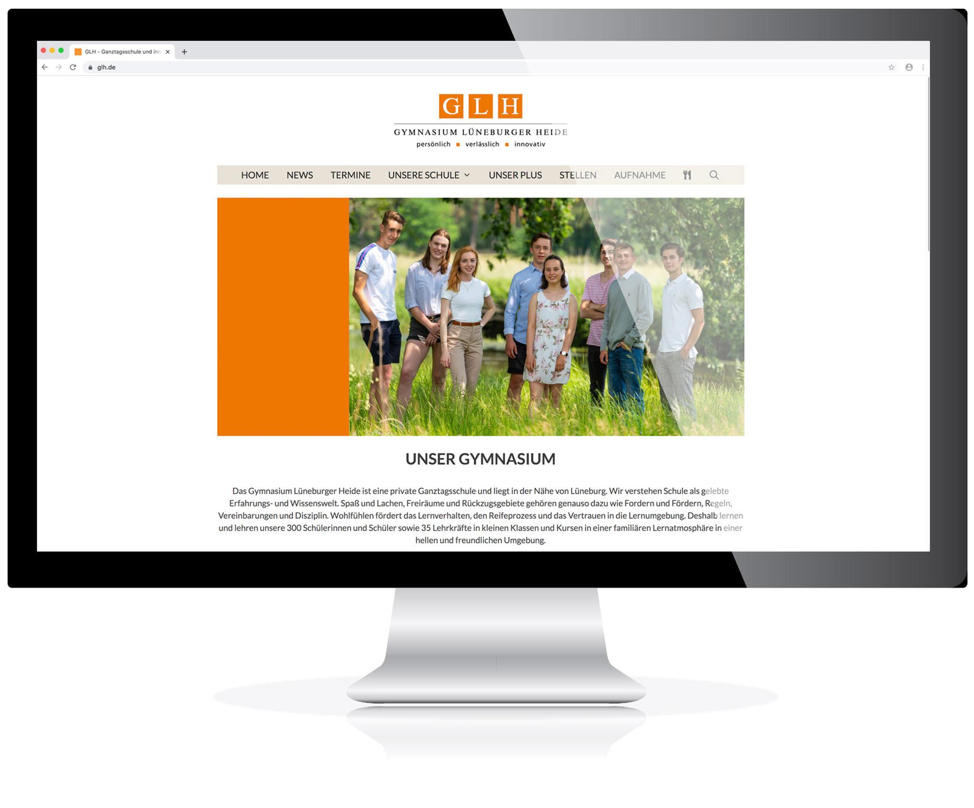 Website für das GLH in Lüneburg/ Melbeck