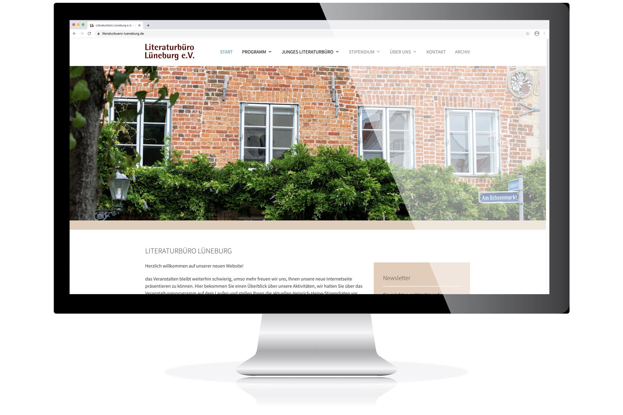 Website für das Literaturbüro Lüneburg