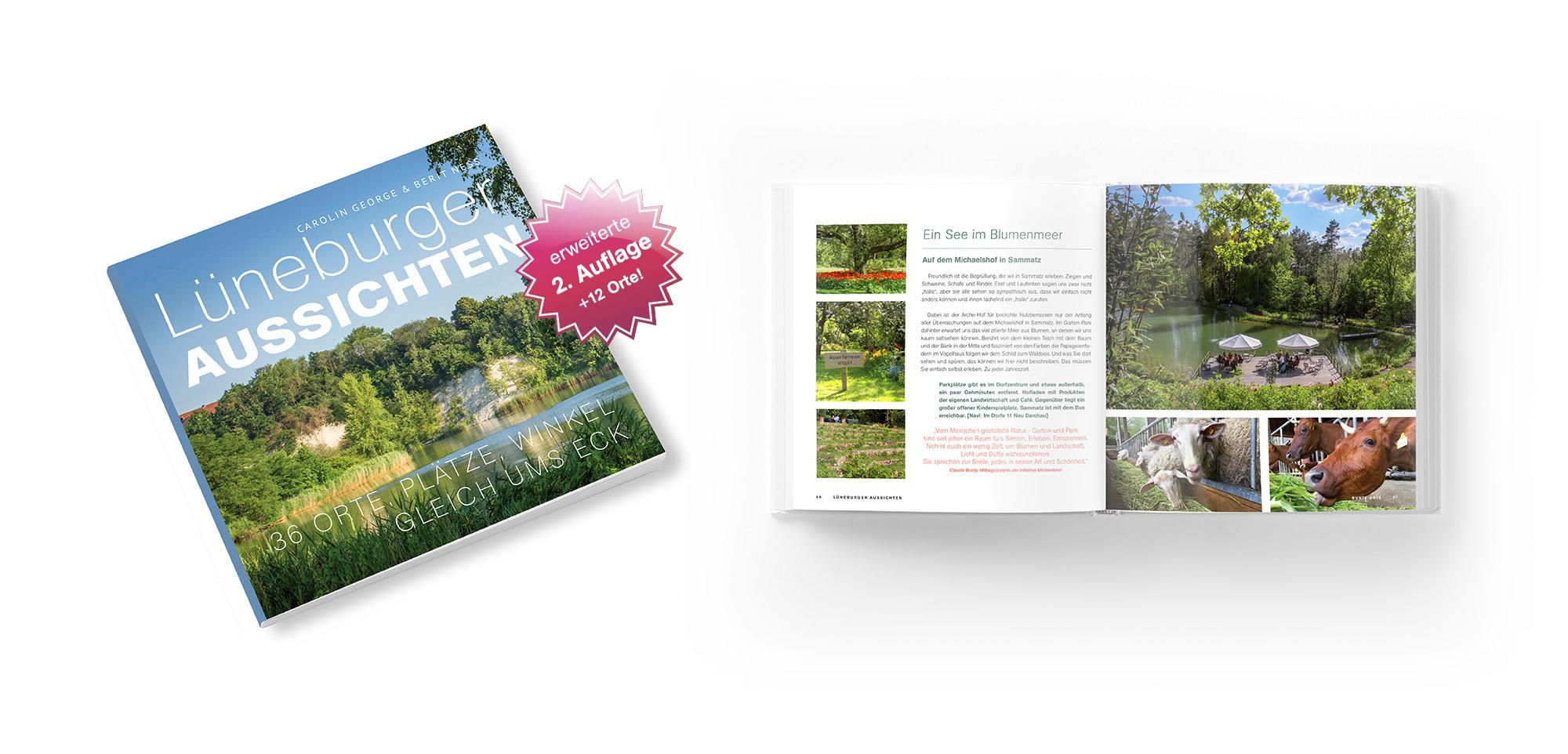 neustes Projekt aus dem kreativ-kontor: Lüneburg Aussichten, eine Broschüre mit Ausflugstipps