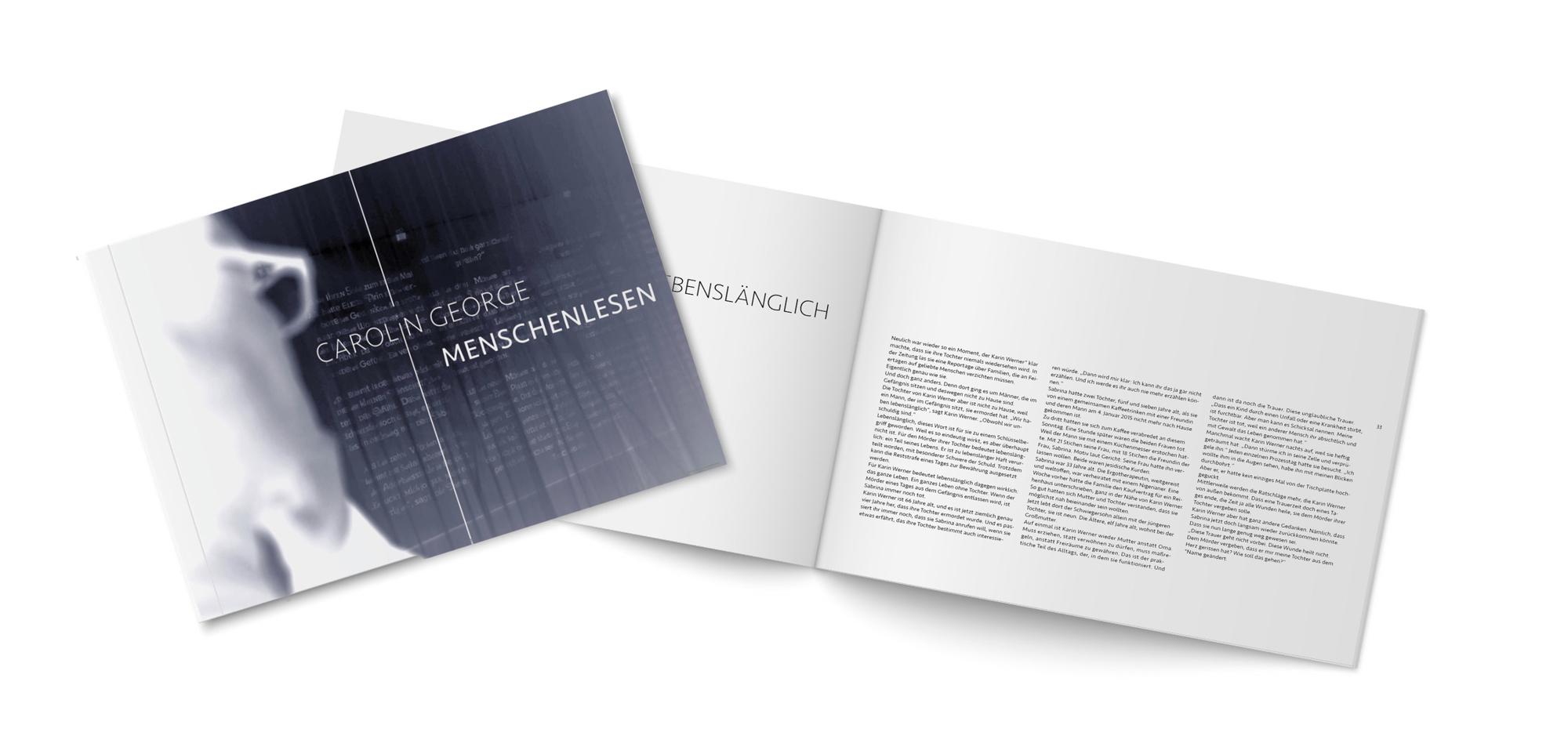 Ausstellungsprojekt vom Lüneburger kreativ-kontor Broschüre Menschenlesen