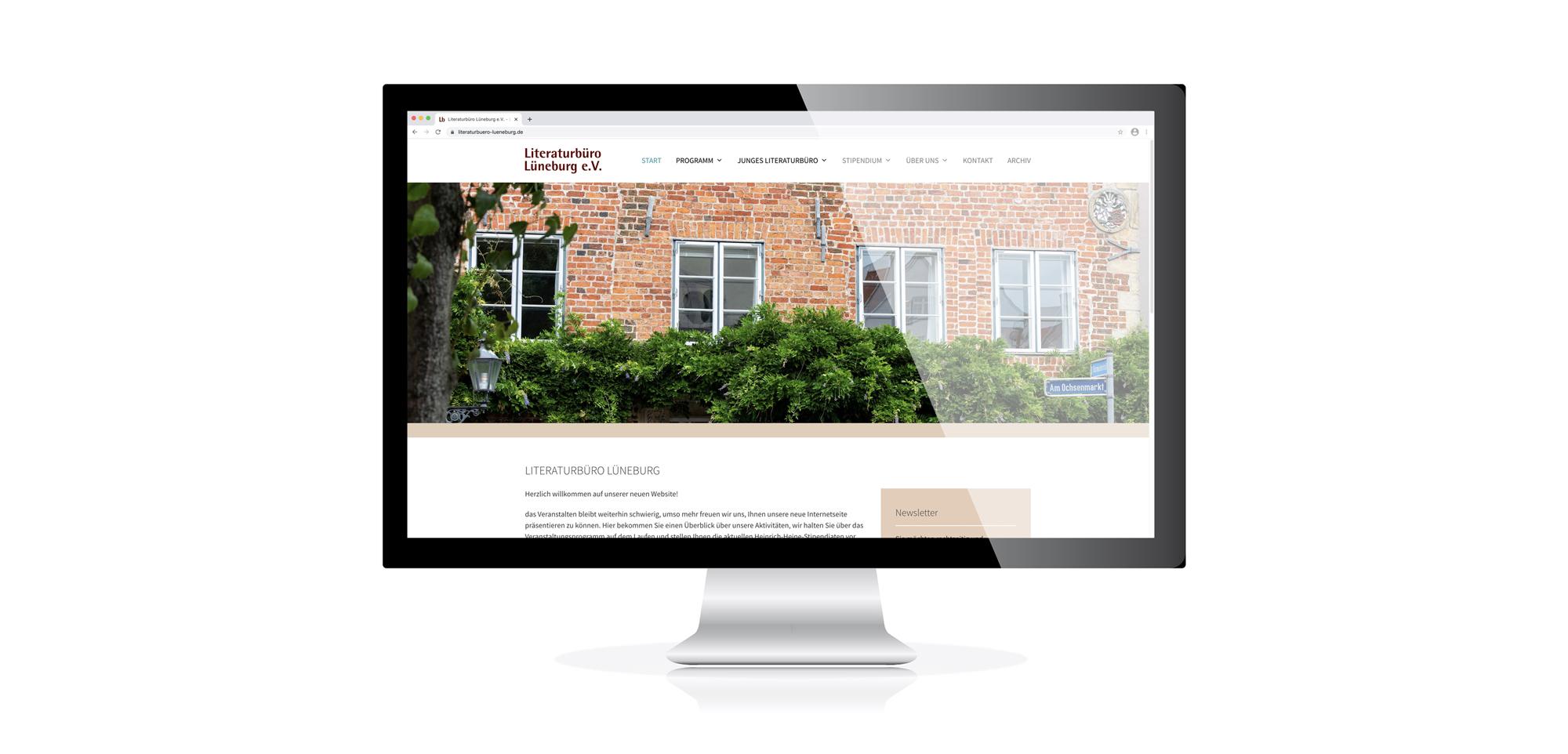 Website-Entwicklung Literatubüro Lüneburg